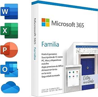 Microsoft 365 Familia | Suscripción anual | Para 6 PCs o Macs, 6 tabletas incluyendo iPad, Android, o Windows, además de 6...