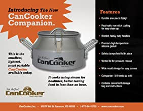 CanCooker Companion 1.5 Gallon Steam Cooker, Safe Convection Steam Cooker For Camping and Home Use