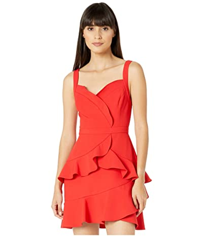 BCBGMAXAZRIA Ruffle Cocktail Dress (Rosso) Women