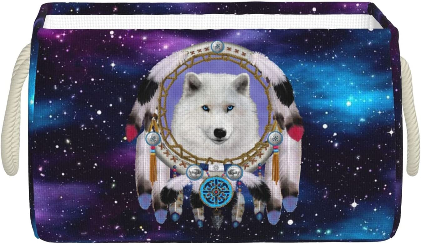 In stock Ramanlas Native Indian Wolf Our shop most popular Dream Bins Storage Catcher Hand with