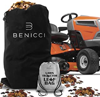 Benicci Lawn Tractor Leaf Bag - Speedy Zipper for Faster Lawn Cleanup - Durable Lawn Leaf Bag Made to Avoid Tearing from Surface Drag - Suitable for All Lawn Tractors