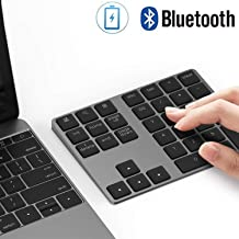 Bluetooth Number Pad, Lekvey Aluminum Rechargeable Wireless Numeric Keypad Slim 34-Keys..