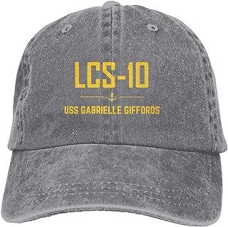 LCS-10 USS Gabrielle Giffords Unisex Mens Womens Denim Strapback Baseball Cap,One Size Adjustable Trucker Dad Hat