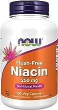 NOW Supplements, Niacin (Vitamin B-3) 250 mg, Flush-Free, Nutritional Health, 180 Veg Capsules