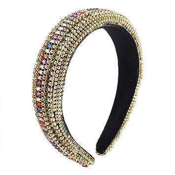 Women/'s Rhinestone Headband Crystal Hairband Hair Hoops Accessories Crown Party