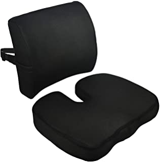 Memory Foam Seat Cushion and Lumbar Support Pillow For Car Office Computer Chair Wheelchair