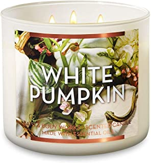 Bath and Body Works White Pumpkin - Large 14.5 Ounce 3-Wick Candle - Limited Edition Fall Pumpkin Candle
