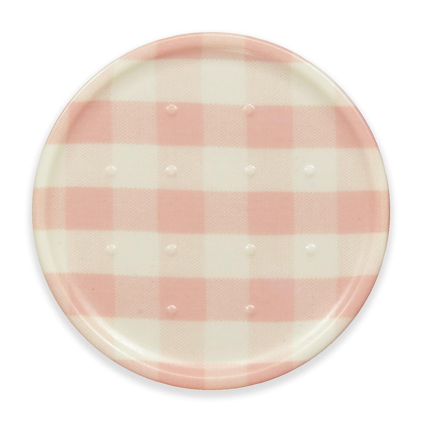 請求可能彼のわがままタツクラフト コースター ミルキー チェック ピンク 食洗機対応 おしゃれ 布 丸 人気 格子 茶托 夏 日本製