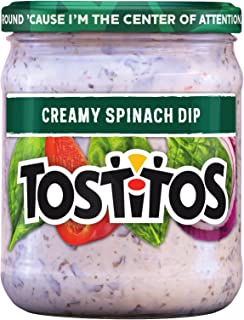 Tostitos Dip, Creamy Spinach, 15 Ounce (Pack of 12)