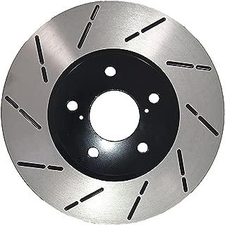 [Front E-Coat Slott Brake Rotors Ceramic Pads] Fit 05 06 Lexus RX330 Canada