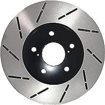 [Front ECoat Slotted Brake Rotors Pads] Fit 08-13 Infiniti G37 w/Akebono Caliper