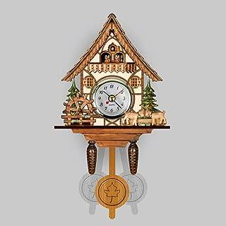 Reloj, Reloj De Pared Decorativo del Hogar del Pájaro del Colgante De Madera del Reloj De Cuco De La Sala del Reloj De Péndulo Craft del Reloj del Arte para La Nueva Casa