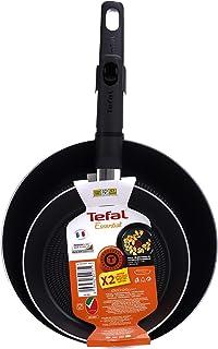 TEFAL Essential 2 Pcs Frypan Set (20/24 cm), red, Aluminium, B3119083