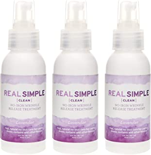 Real Simple Clean Travel Size Wrinkle Release, Static Cling Remover, Pillow & Fabric Freshener, Out the Door No-Iron Quick...