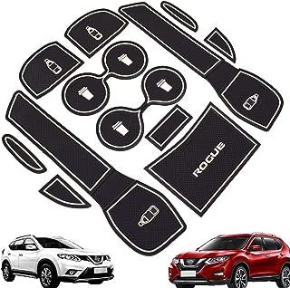 Car Non-slip Interior Door Mat Cup Mat Gate Slot Pad for 2014-2019 Nissan Rogue 12pc/set White