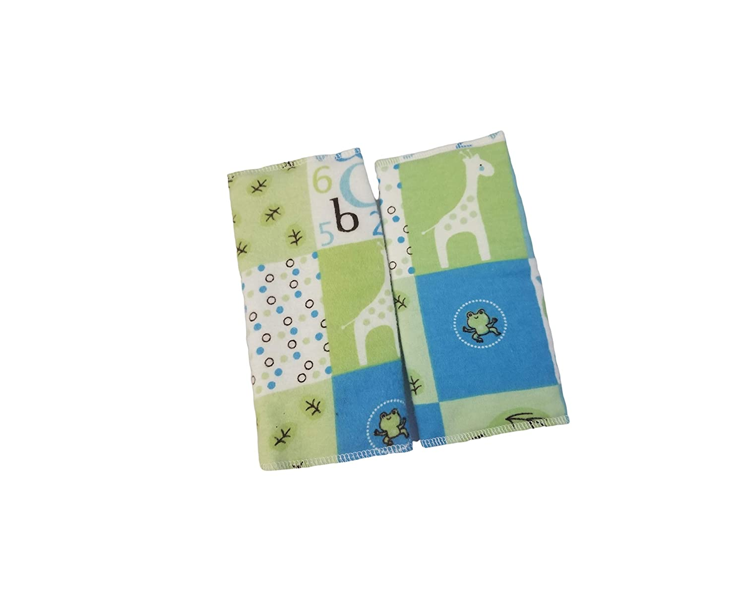 Blue and Yellow Giraffe Drool Suck Pads fits Carriers Such as tula,lilliebaby,Ergo