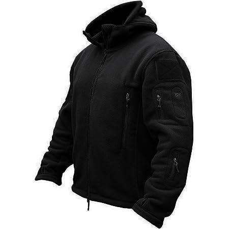 TACVASEN Windproof Men's Military Fleece Combat Jacket Tactical Hoodies
