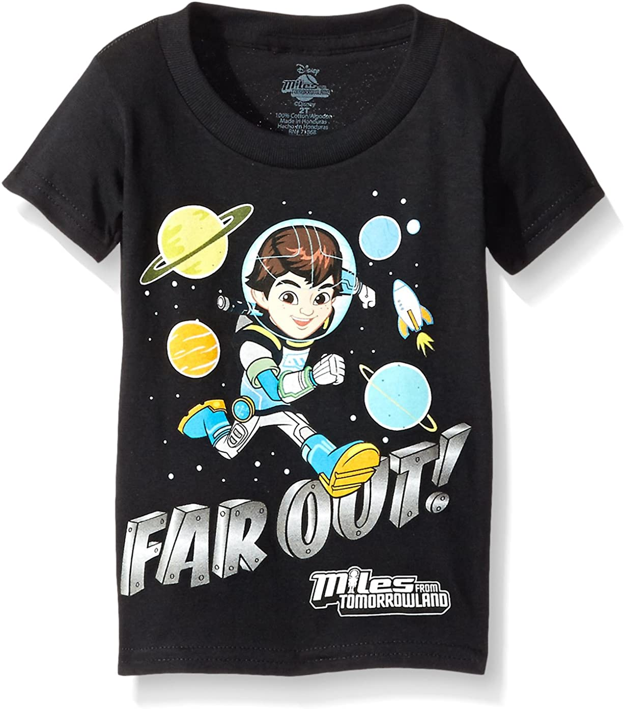 Disney Store Miles from Tomorrowland Little Boy Short Sleeve T Shirt Size 5//6