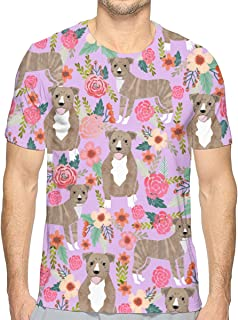 Pitbull Brindle Florals Sleeve T Shirt