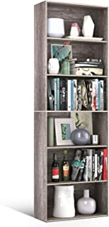 Homfa Bookshelf 70 in Height, Bookcase 6 Shelf Free Standing Display Storage Shelves Standard Organization Collection Deco...