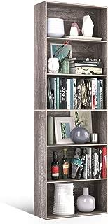 Homfa Bookshelf 70 in Height, Wood Bookcase 6 Shelf Free Standing Display Storage Shelves Standard Organization Collection Decor Furniture for Living Room Home Office, Dark Oak