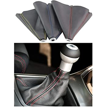 Minyinla Gear Shift Knob 5 Speed Car Gearstick Gaiter Boot Kit in Plastic and Synthetic Leather forB7 2011-2015