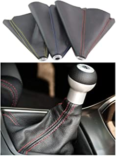 PVC Shift Boot for Manual Automatic Car/Auto Gear Shift Knob Cover MT/AT Universal Type (Red)