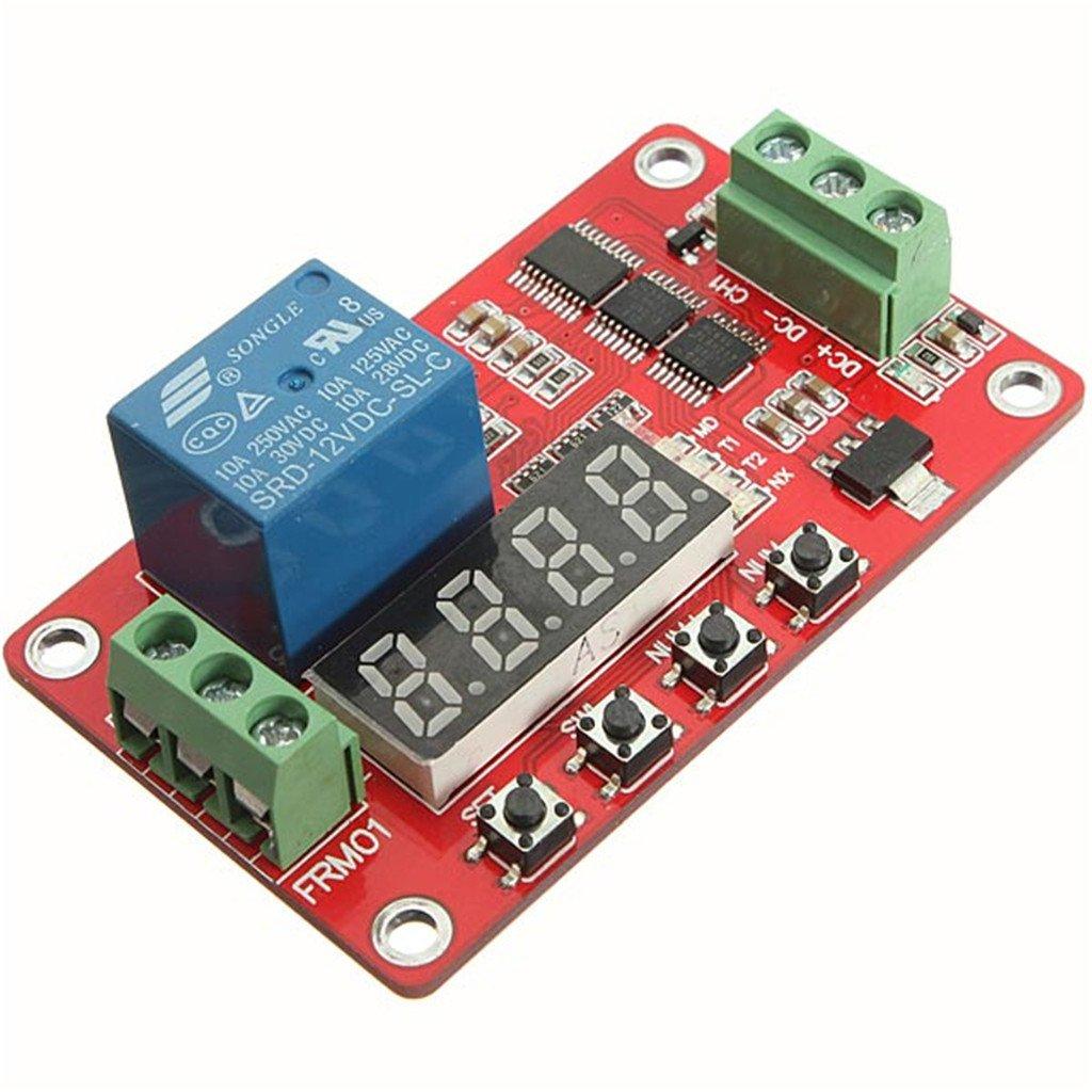 C.J. tienda módulo temporizador multifunción para relé (autobloqueo, PLC automatización retraso FRM01/frm02/frm03/frm04: Amazon.es: Hogar