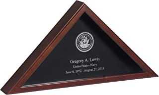 USMilitaryStuff Personalized Laser Engraved Flag Case for American 5'x9.5' Veteran Burial Flag