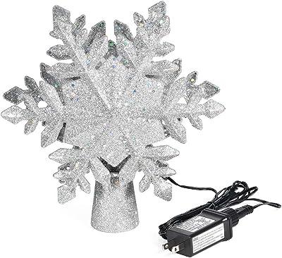 Hermosa Decoración Colgante 3D estrella de cristal con cinta plateada