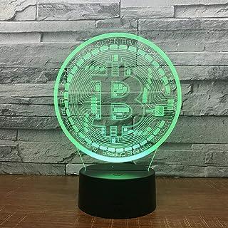 Lámpara de ilusión 3D wangZJGolfGato lindoMonedaCanicheCoche deportivo  7 colores Cambio automáticoLuces nocturnas ...