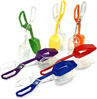 Skoolzy Fine Motor Skills Toys - Rainbow Color Sorting for Toddlers Scissor Tongs - Sensory Learning Tools