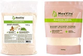 MeaVita Mandelmehl, naturbelassen, blanchiert, 1er Pack 1 x 1000g im Beutel