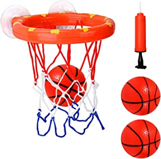 Sponsored Ad - Cyfie Bath Toys for Kids, Bathtub Basketball Hoop & Balls Set, Office Balls Playset with 3 Hard Balls for B...