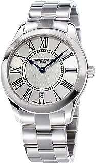 Frederique Constant Women's Classics 36mm Steel Bracelet & Case Quartz Silver-Tone Dial Watch FC-220MS3B6B