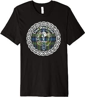 Maclellan surname last name Scottish Clan tartan badge crest Premium T-Shirt