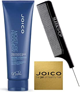 Joico MOISTURE RECOVERY Treatment Balm for THICK/COARSE Dry Hair (with Sleek Steel Pin Tail Comb) (8.5 oz / 250 ml - tube)