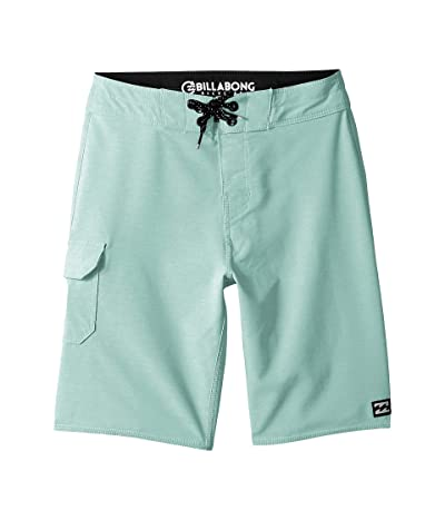 Billabong Kids All Day Pro Boardshorts (Big Kids) (Aqua Heather) Boy