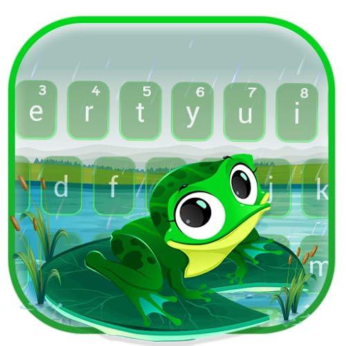 Cute Cartoon Big Eye Frog Keyboard Theme