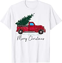 Vintage Red Truck With Merry Christmas Tree T-Shirt
