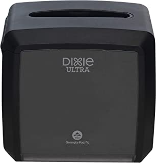 "Dixie Ultra Tabletop Interfold Napkin Dispenser by GP PRO (Georgia-Pacific), Black, 54527A, Holds 275 Napkins, 7.600"" W x 6.100"" D x 7.200"" H"