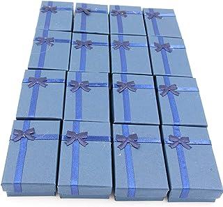 LeBeila 16 件纸质珠宝礼品盒 - 戒指、小手表、项链、耳环、手链礼品包装盒 深蓝色 LBL-FP0ZN-2120