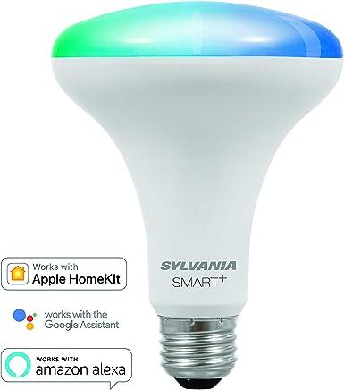 SYLVANIA SMART+ Bluetooth Full Color Light BR30 LED Light Bulb, 65-Watt Equivalent,