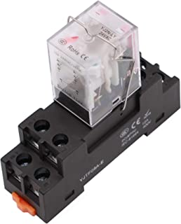 8 Pin 10A 24VAC Coil Electromagnetic Relay with Socket Base DPDT with LED and Mechanical Indicator