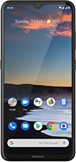 "Nokia 5.3 Fully Unlocked Smartphone with 6.55"" HD+ Screen, AI-Powered Quad Camera and Android 10, Charcoal, 2020 (AT&T/T-M..."