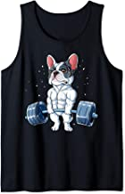 French Bulldog Weightlifting Funny Deadlift Men Fitness Gym Tank Top