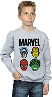 Marvel Jungen Comics Main Heads Sweatshirt