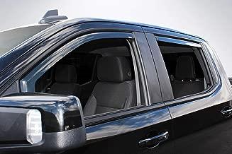 Wade 4-Piece in-Channel Wind Deflectors Vent Visors for 2019 Chevrolet/Chevy Silverado 1500 Crew Cab / 2019 GMC Sierra 1500 Crew Cab