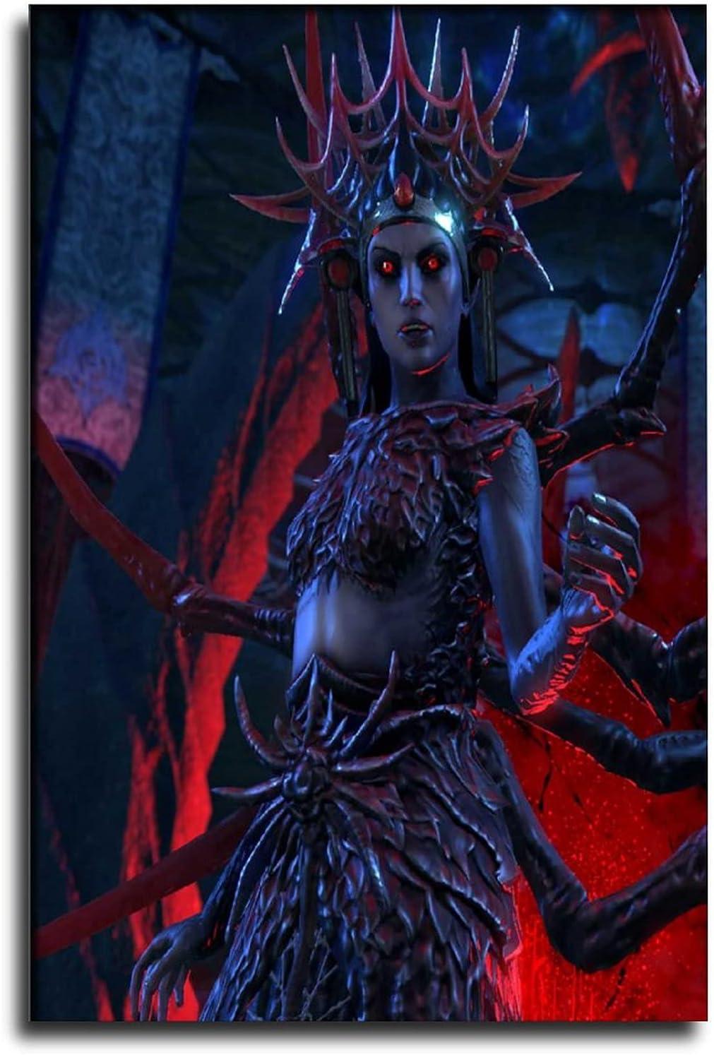 LINEDOT Fantasy Ranking TOP6 Max 84% OFF Dark Evil Q-ueen Art Poster Deco Painting