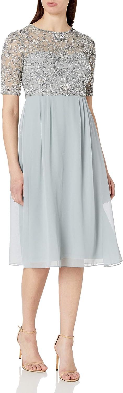 Adrianna Papell Women's Beaded Midi Dress